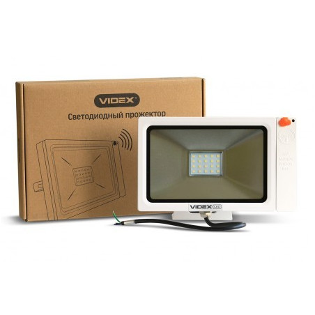 Прожектор LED VIDEX Slim Sensor 20W 5000K 220V White (VL-FS205W-S)